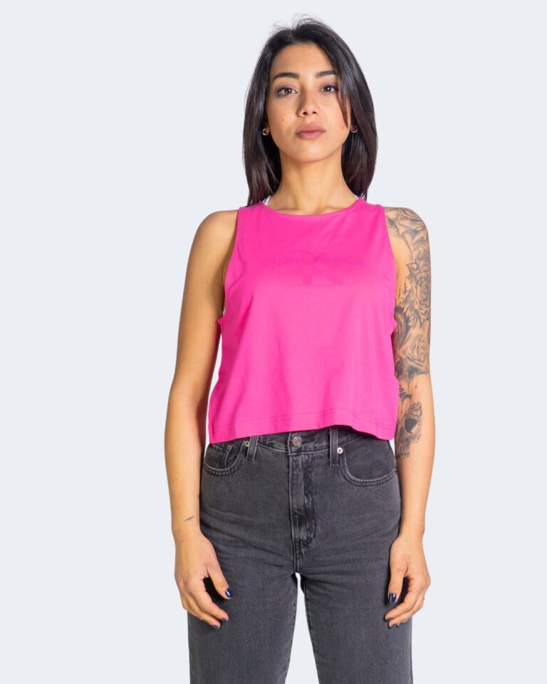 T-shirt Calvin Klein Jeans TONAL MONOGRAM TANK J20J215622 Rosa - Foto 2