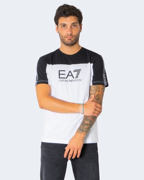 T-shirt Ea7 MULTILOGO SULLE SPALLE Bianco – 73071