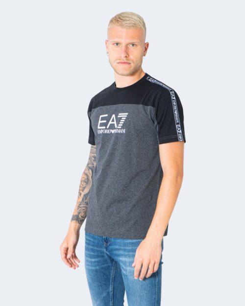 T-shirt Ea7 MULTILOGO SULLE SPALLE Antracite – 73071