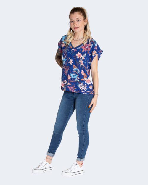 T-shirt Only TILDE Azzurro - Foto 2