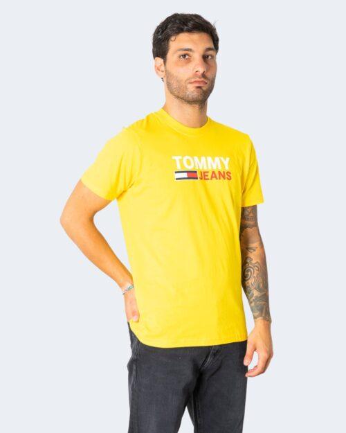 T-shirt Tommy Hilfiger CORP LOGO Ocra – 72185