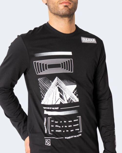 T-shirt manica lunga Armani Exchange – Nero – 72505