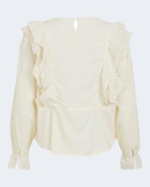 T-shirt manica lunga Vila Clothes OMINI Crema – 74110