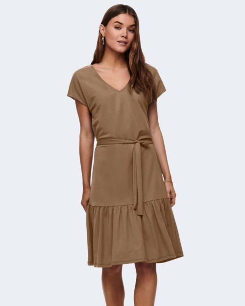 Vestito lungo Only WERA S/S DRESS JRS Marrone - Foto 1