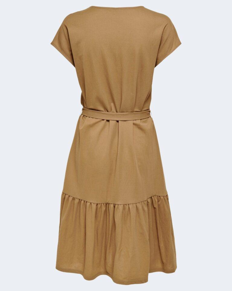 Vestito lungo Only WERA S/S DRESS JRS Marrone - Foto 2