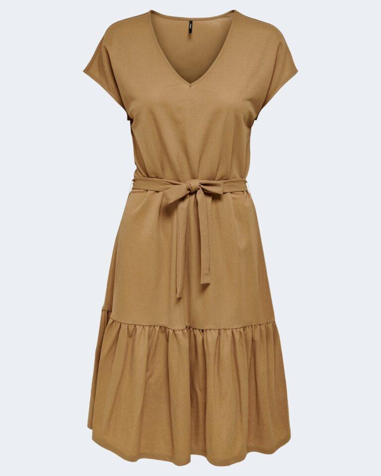 Vestito lungo Only WERA S/S DRESS JRS Marrone - Foto 3