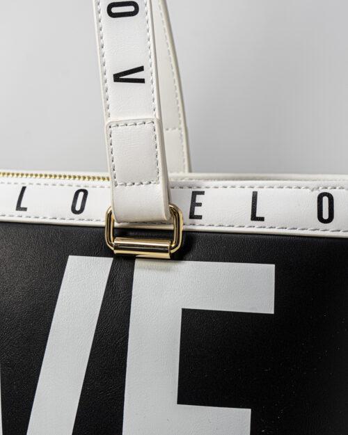Borsa Love Moschino CONTORNO STAMPA LOGO Nero - Foto 5