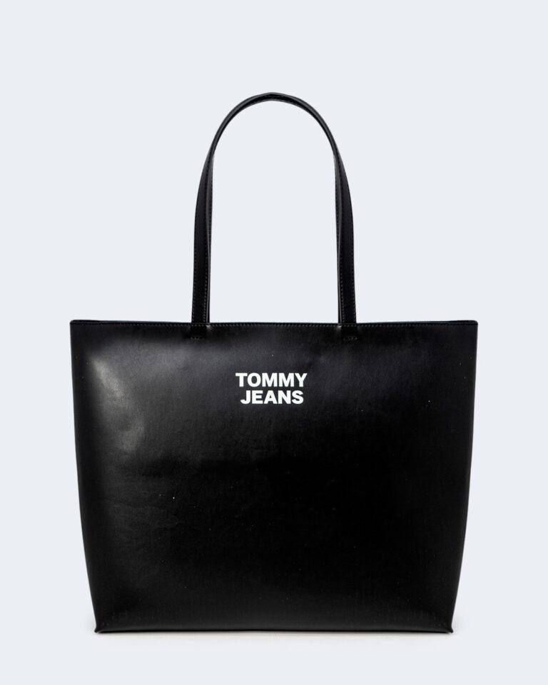 Borsa Tommy Hilfiger Jeans ESSENTIAL PU TOTE Nero - Foto 1