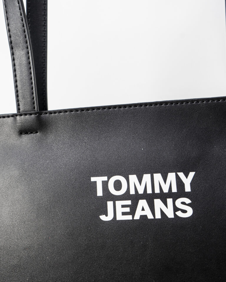 Borsa Tommy Hilfiger Jeans ESSENTIAL PU TOTE Nero - Foto 4