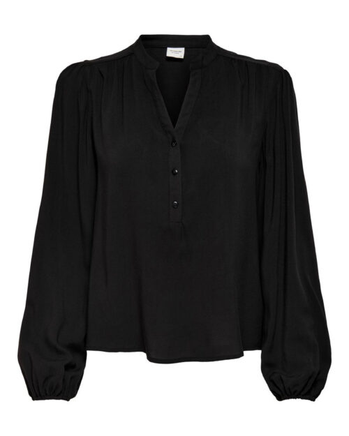 Bluse manica lunga Jacqueline de Yong MARLON Nero - Foto 5