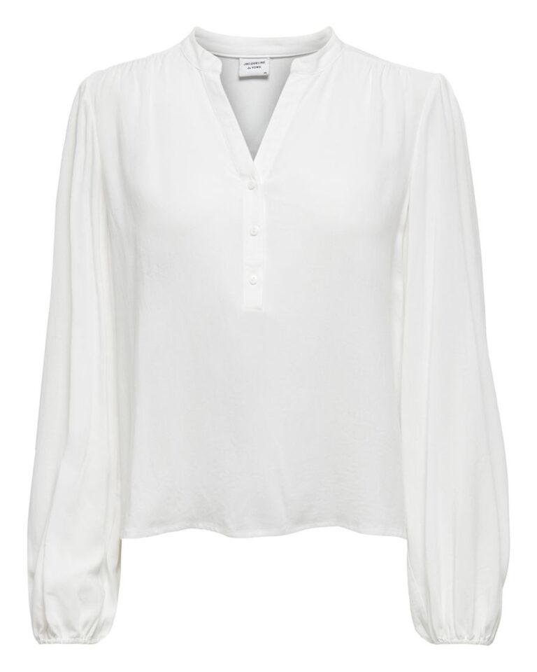Bluse manica lunga Jacqueline de Yong MARLON Panna - Foto 5
