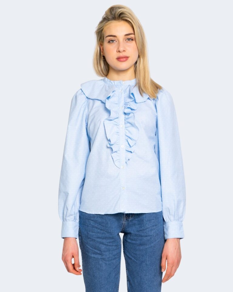 Camicia manica lunga Only GWENDA Celeste - Foto 5