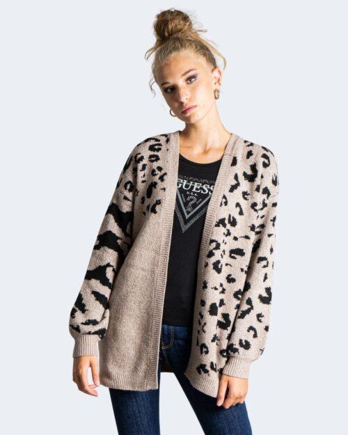 Cardigan Vila Clothes AILA ANIMAL L/S KNIT Beige – 76660