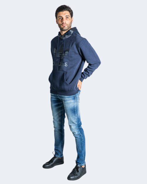 Felpa con cappuccio Adidas CAMO HOODY Blu – 74359
