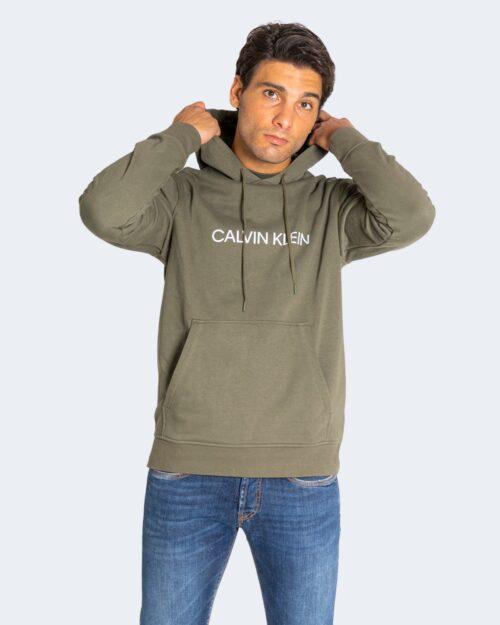 Felpa con cappuccio Calvin Klein Performance Hoodie Verde Oliva – 71986