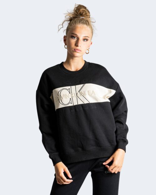 Felpa senza cappuccio Calvin Klein MONOGRAM Nero – 72138