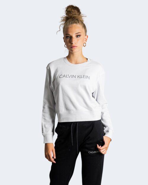 Felpa senza cappuccio Calvin Klein Performance – Bianco ice – 71995