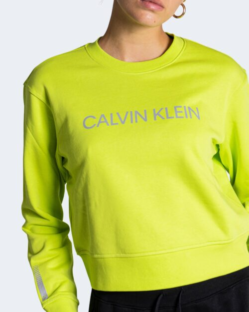 Felpa senza cappuccio Calvin Klein Performance – Giallo lime – 71995