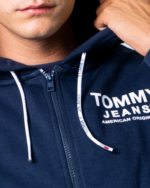 Felpa con cappuccio Tommy Hilfiger ESSENTIAL Blu - Foto 5