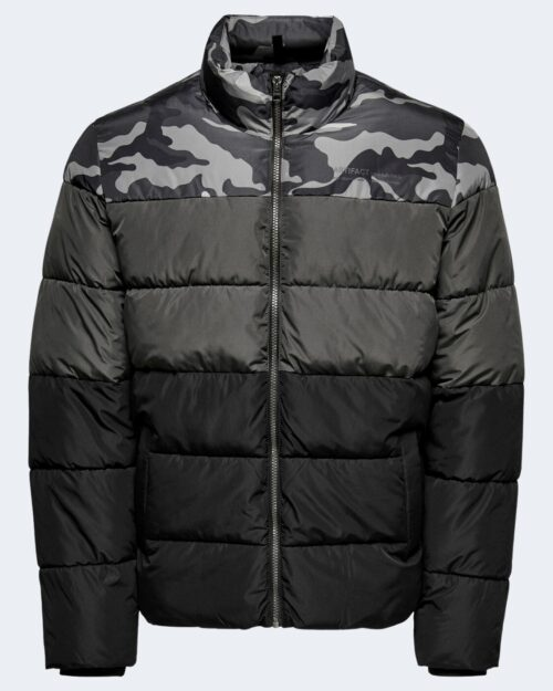 Piumino Only & Sons ONSMELVIN LIFE QUILTED JACKET OTW VD – 22019345 Antracite – 71879