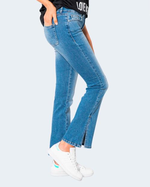 Jeans bootcut Only ONLHUSH LIFE MID FLARED SLIT DNM AZ921 – 15244711 Blue Denim Chiaro – 71871