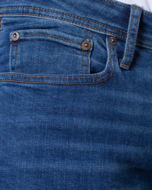 Jeans slim Jack Jones TIM ORIGINAL Blue Denim Scuro - Foto 5