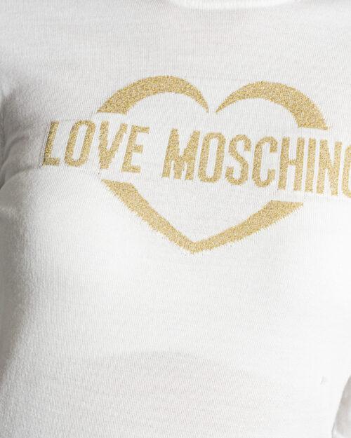 Maglia Love Moschino APPLY ON BAG Panna – 76658