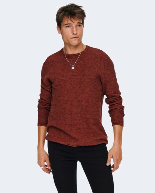 Maglia Only & Sons ONSNIKO LIFE CREW KNIT NOOS – 22019979 Ruggine – 71880
