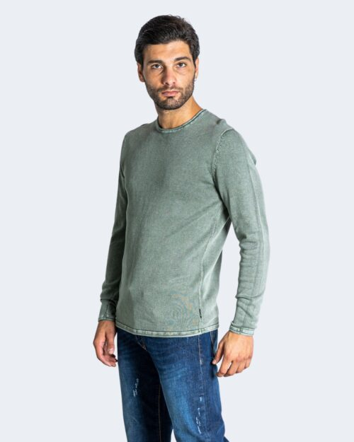Maglia Only & Sons GARSON 12 WASH CREW KNIT NOOS Verde – 74360