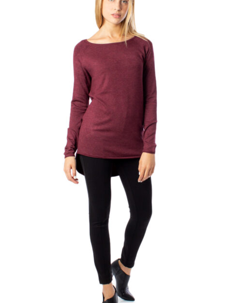 Maglione Only MILA LACY LONG PULLOVER KNT NOOS Marrone - Foto 5