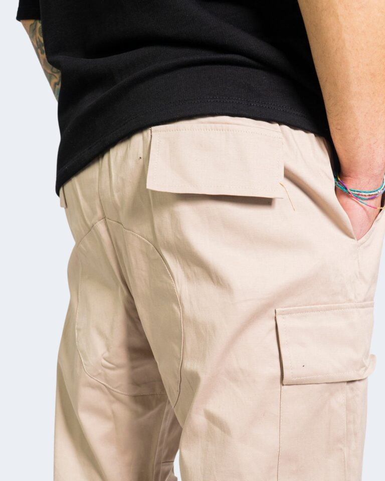 Pantaloni con cavallo basso Hydra Clothing TASCHE LATERALI Beige - Foto 5