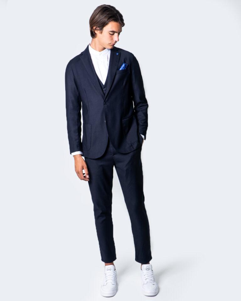 Pantaloni slim Over-D CHINO ESSENTIAL Blu - Foto 5