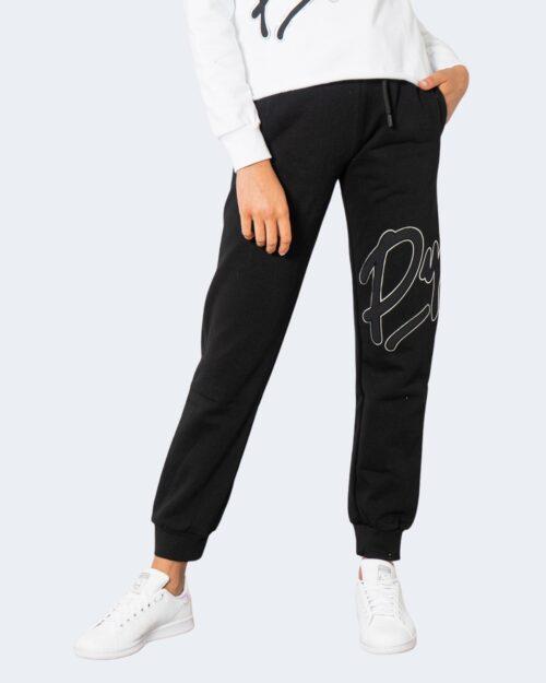 Pantaloni sportivi Pyrex LOGO CORSIVO SILVER GAMBA Nero – 74283