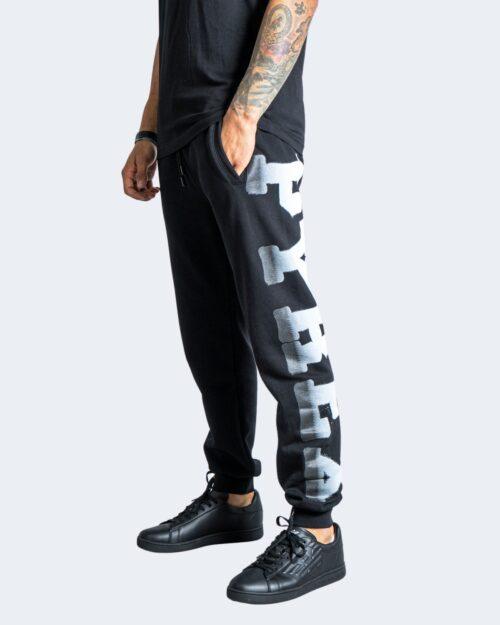 Pantaloni sportivi Pyrex LOGO GRAFFITI GAMBA Nero – 74285