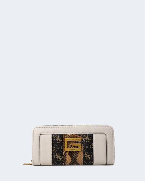 Portafoglio grande Guess BLING SLG LARGE ZIP AROUND Marrone – 74417