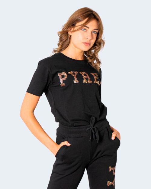 T-shirt Pyrex LOGO LEOPARDATO GRANDE Nero – 74245