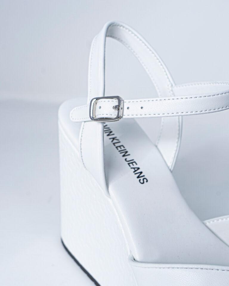 Scarpe con tacco Calvin Klein Jeans WEDGE SANDAL Bianco - Foto 5