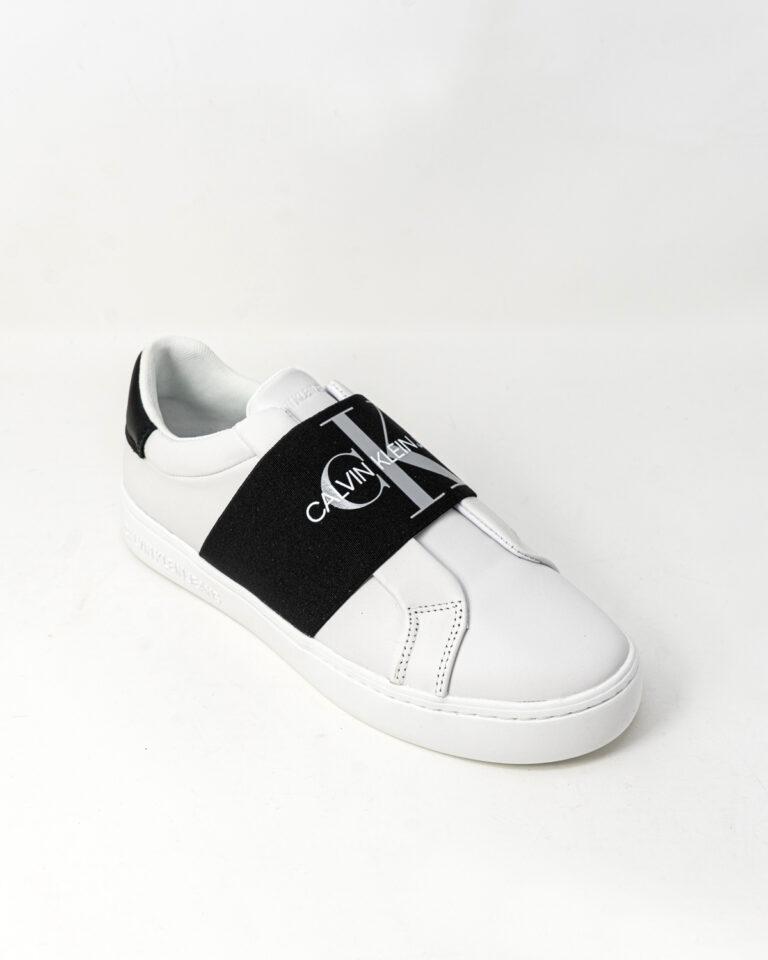 Sneakers Calvin Klein Jeans CUPSOLE ELASTIC Bianco - Foto 4