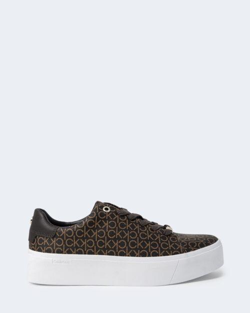Sneakers Calvin Klein FLATFORM Marrone – 72004