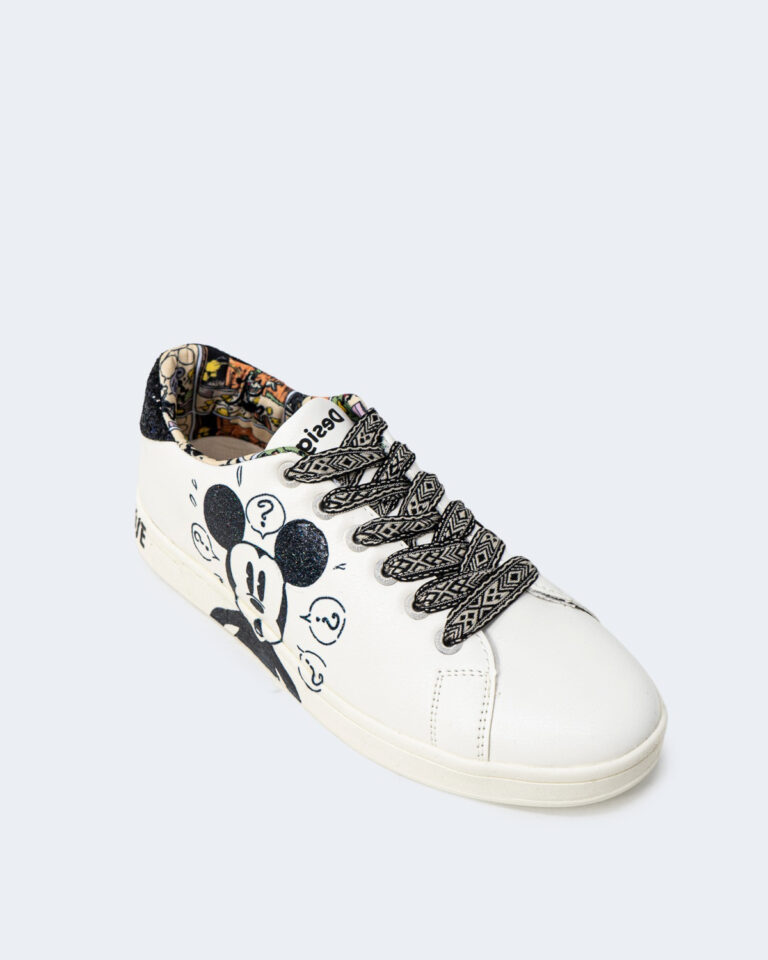 Sneakers Desigual COSMIC MICKEY GLITTER Bianco - Foto 4