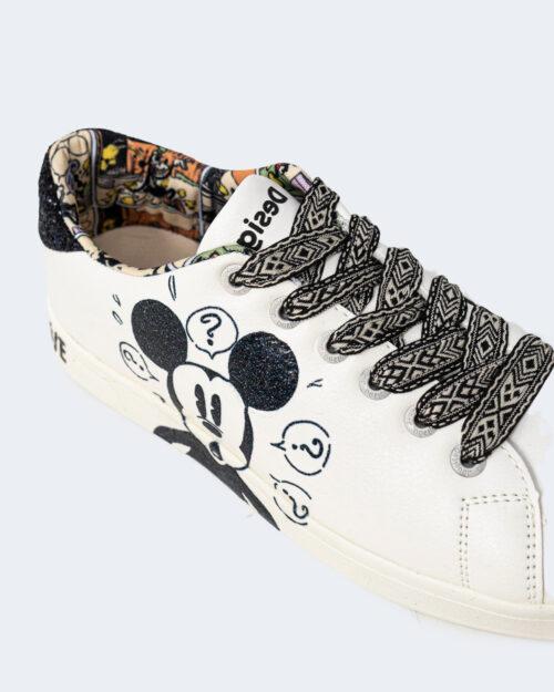 Sneakers Desigual COSMIC MICKEY GLITTER Bianco - Foto 5