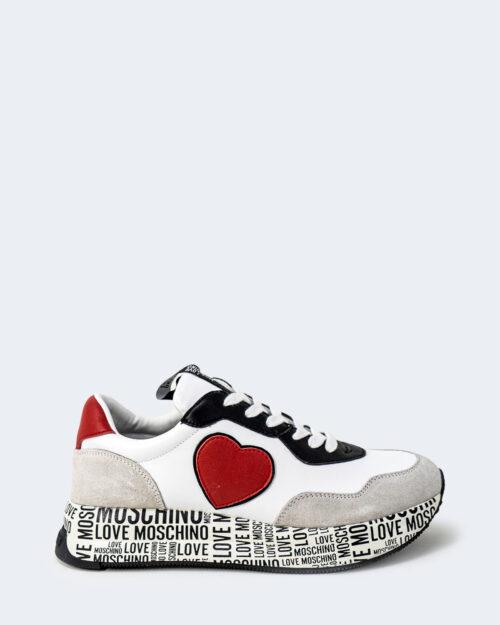Sneakers Love Moschino MULTILOGO SUOLA Bianco – 74217