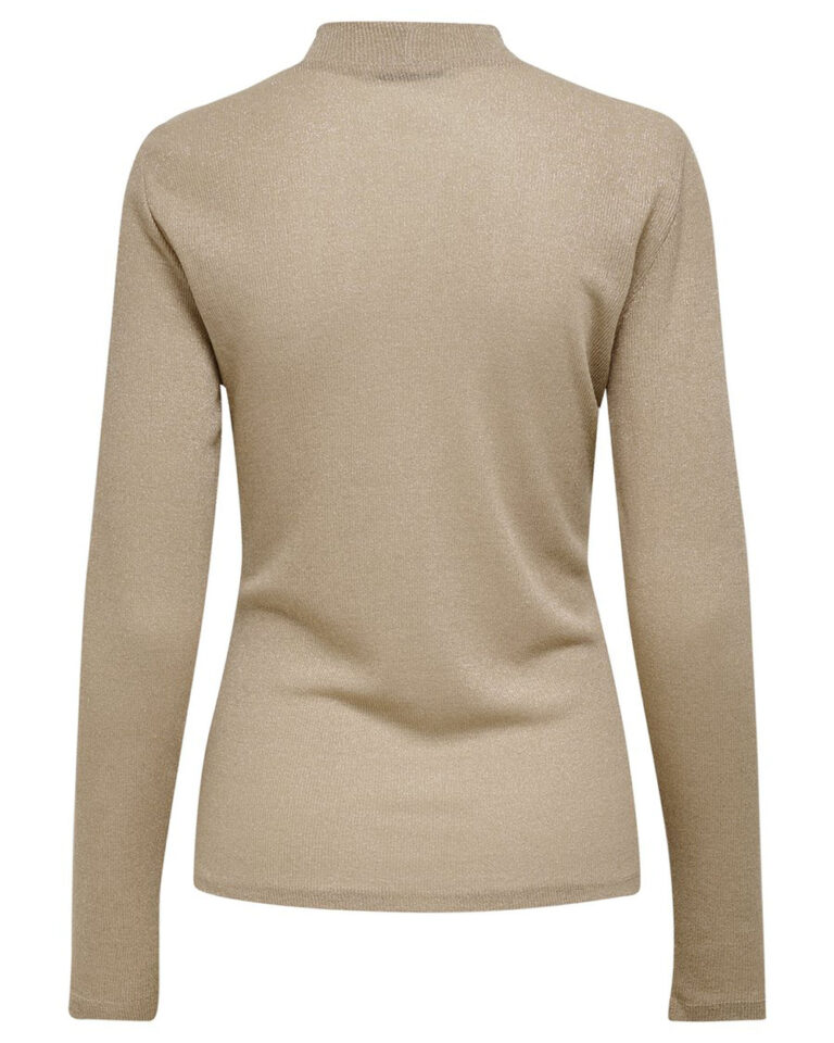 T-shirt manica lunga Only DIANA LUREX L/S TOP JRS NOOS Oro - Foto 5