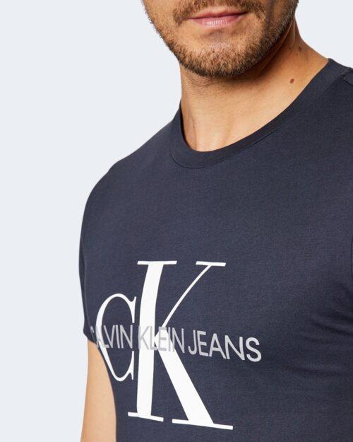 T-shirt Calvin Klein ICONIC MONOGRAM Blu – 76601