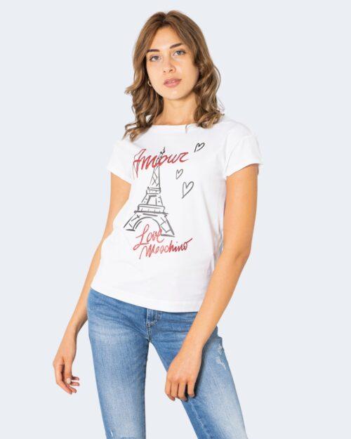 T-shirt Love Moschino AMOUR Bianco – 74197