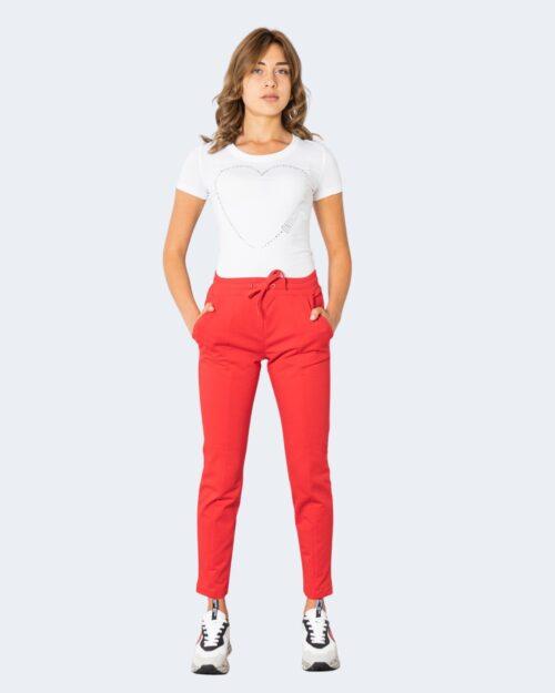 T-shirt Love Moschino BIG HALF CUORE Bianco – 74200