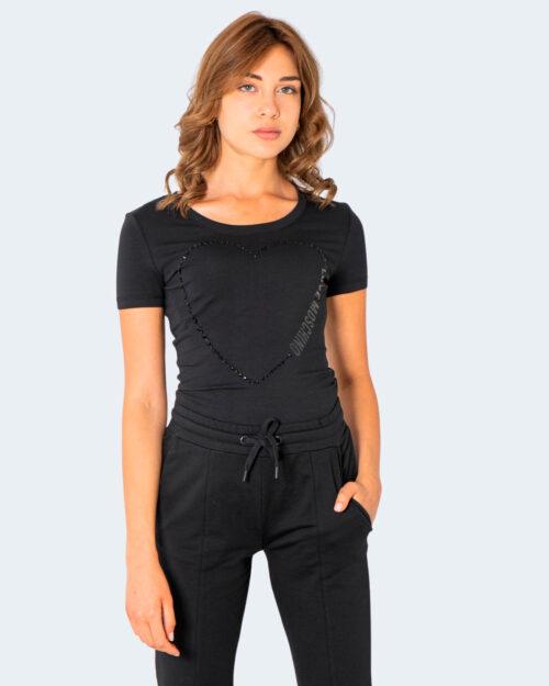 T-shirt Love Moschino BIG HALF CUORE Nero – 74200
