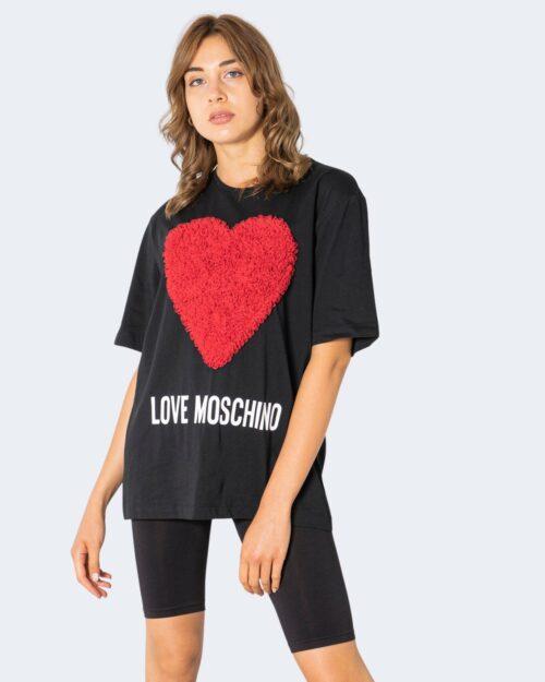 T-shirt Love Moschino CUORE IN RILIEVO Nero – 74194
