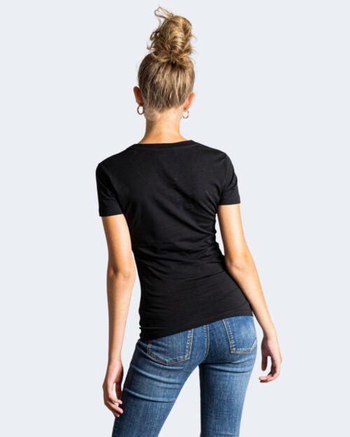 T-shirt Love Moschino LATO CUORE LOGO LOVE! Nero – 76659