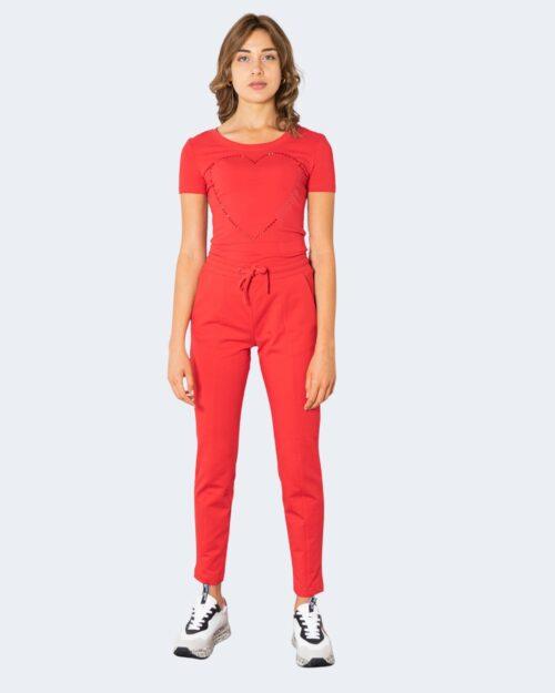 T-shirt Love Moschino BIG HALF CUORE Rosso – 74200